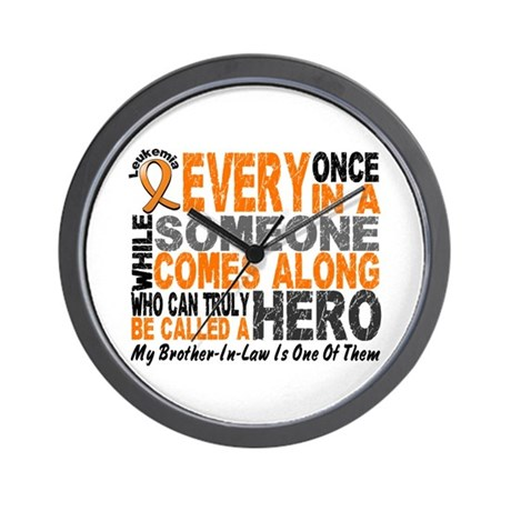 HERO Comes Along 1 Brother-In-Law LEUK Wall Clock