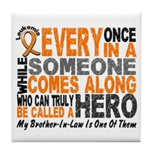 HERO Comes Along 1 Brother-In-Law LEUK Tile Coaste