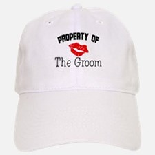 Property of the Groom (Red Lips) Baseball Baseball Cap
