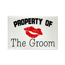 Property of the Groom (Red Lips) Rectangle Magnet