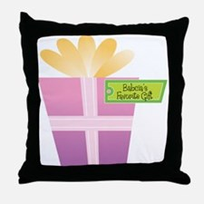 Babcia's Favorite Gift Throw Pillow