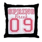 Pink Spring Break 09 Throw Pillow