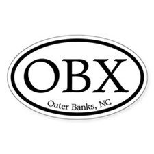 OBX Outer Banks, NC Oval Oval Decal