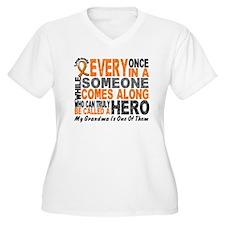 HERO Comes Along 1 Grandma LEUKEMIA T-Shirt