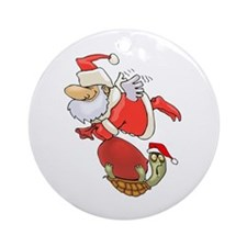Flying with Santa Ornament (Round)