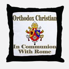 Cute Pope benedict Throw Pillow