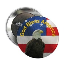 """God Bless America 2.25"""" Button (100 pack)"""