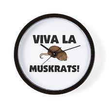 Viva La Muskrats Wall Clock