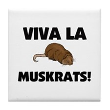Viva La Muskrats Tile Coaster