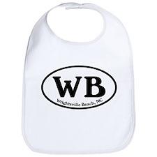 WB Wrightsville Beach Oval Bib