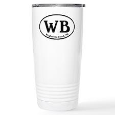 WB Wrightsville Beach Oval Travel Mug