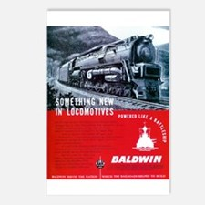 Baldwin S-2 Steam Locomotive Postcards (Package of