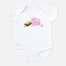 Piggy Bank Family Dinner Infant Bodysuit