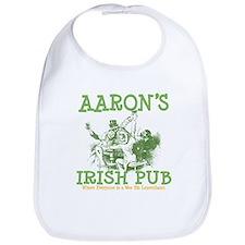 Aaron's Vintage Irish Pub Personalized Bib