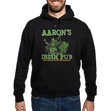 Aaron's Vintage Irish Pub Personalized Hoodie