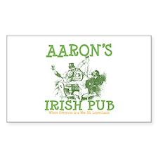 Aaron's Vintage Irish Pub Personalized Decal