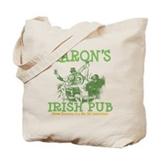 Aaron's Vintage Irish Pub Personalized Tote Bag