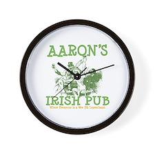 Aaron's Vintage Irish Pub Personalized Wall Clock