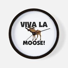 Viva La Moose Wall Clock
