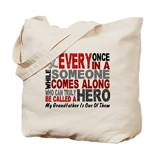 HERO Comes Along 1 Grandfather BRAIN CANCER Tote B