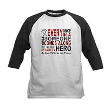 HERO Comes Along 1 Grandfather BRAIN CANCER Tee