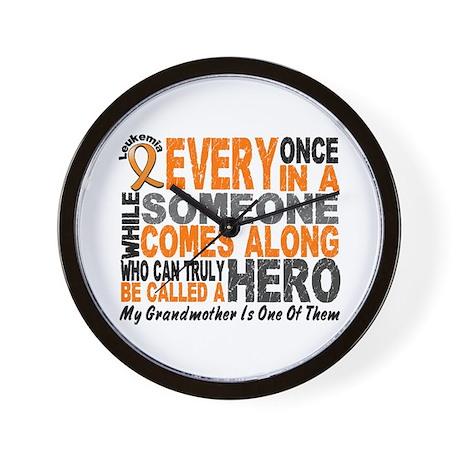 HERO Comes Along 1 Grandmother LEUK Wall Clock