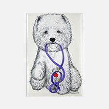 Westie Walkie Rectangle Magnet