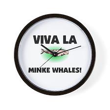 Viva La Minke Whales Wall Clock