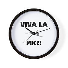 Viva La Mice Wall Clock