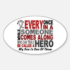 HERO Comes Along 1 Son BRAIN CANCER Oval Decal