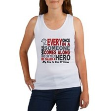 HERO Comes Along 1 Son BRAIN CANCER Women's Tank T