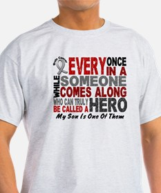 HERO Comes Along 1 Son BRAIN CANCER T-Shirt
