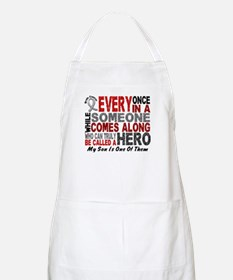 HERO Comes Along 1 Son BRAIN CANCER BBQ Apron