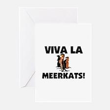 Viva La Meerkats Greeting Cards (Pk of 10)