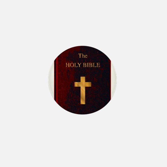 Red Cover Holy Bible Mini Button (10 pack)