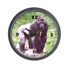 Young Silverback on Rock Wall Clock