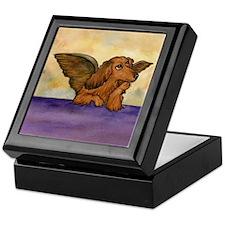 Longhaired Doxie Angel Keepsake Box