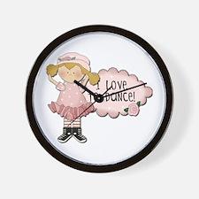 Blond Girl Dancer Wall Clock