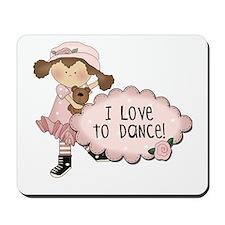 Brown Hair Girl Dancer Mousepad