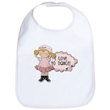 Blond Girl Dancer Bib
