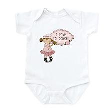 Lt. Brown Hair Girl Dancer Infant Bodysuit