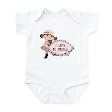 Brown Hair Girl Dancer Infant Bodysuit