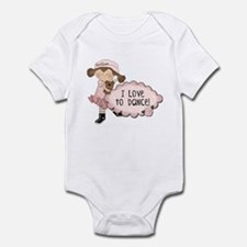 Brown Hair Girl Dancer Infant Bodysuit