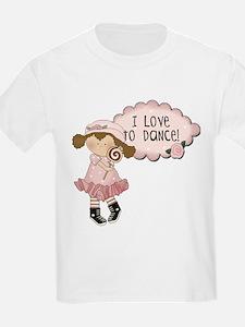 Lt. Brown Hair Girl Dancer T-Shirt