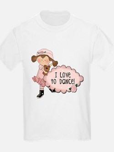 Brown Hair Girl Dancer T-Shirt