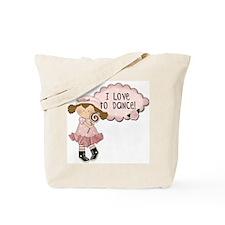 Lt. Brown Hair Girl Dancer Tote Bag