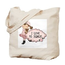 Brown Hair Girl Dancer Tote Bag