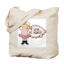 Blond Girl Dancer Tote Bag