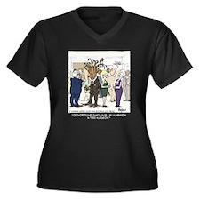 Tree Surgeon Women's Plus Size V-Neck Dark T-Shirt