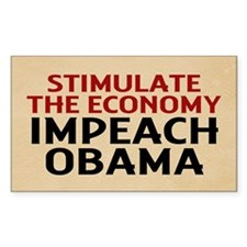 Impeach Obama Rectangle Decal